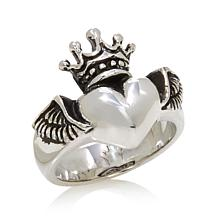 King Baby Jewelry Sterling Silver Winged Heart Ring