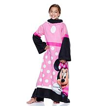 Minnie Mouse Licensed Youth Comfy Throw with Sleeves