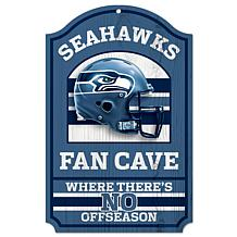 "NFL 11"" x 17"" Fan Cave Hardwood Sign"