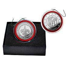 NFL Silver Coin Ornament - New Orleans Saints