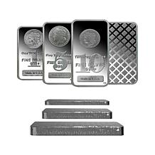 One Pound of 99.9% Silver Bars w/Morgan Dollar Design