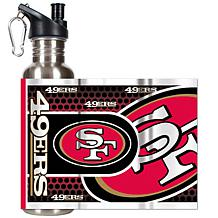 San Francisco 49ers Stainless Steel Water Bottle with M