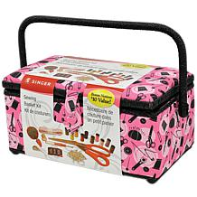 Sewing Basket - Pink Notions