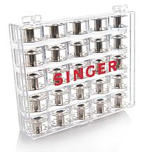 Singer® 25 Metal Bobbins in Clear Case