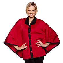 Slinky® Brand Ponte Button-Down Cape