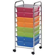 Storage Cart W/8 Drawers - 16.5X39.5X14.5 Multicolor