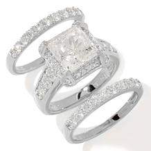 Victoria Wieck Absolute™ Square & Pavé 3-piece Ring Set