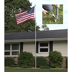 12' American Pride Flag Pole with Decorative Eagle