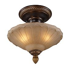"12"" Restoration Semi-Flush Ceiling Light - Gold Bronze"