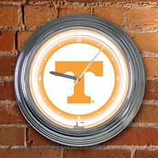 "15"" Neon Team Clock - Tennessee - College"