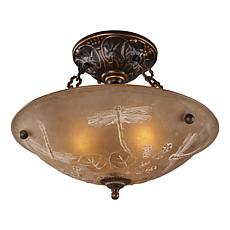 "16"" Restoration Semi-Flush Ceiling Light - Gold Bronze"