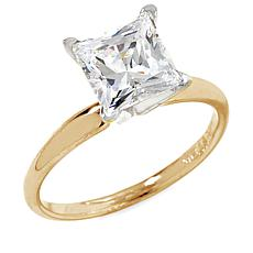 2ct Absolute™ 14K Princess-Cut 4-Prong Solitaire Ring