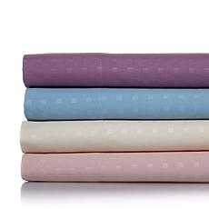 Concierge Microfiber Embossed Large Check 4pc Sheet Set