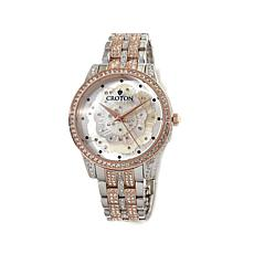 Croton 2-Tone Mother-of-Pearl Dial Bracelet Watch