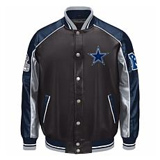 Dallas Cowboys Faux Leather Varsity Jacket by Glll