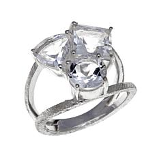 "Deb Guyot 4.8ctw Herkimer ""Diamond"" Quartz 3-Stone Ring"