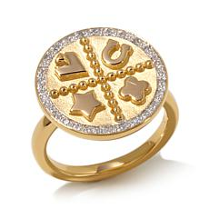 Diamonds Unleashed Diamond-Accented Charm Ring