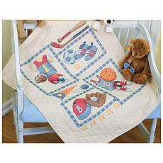 Dimensions Baby Hugs Sports Quilt Cross-Stitch Kit
