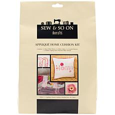 Docrafts Sew and So On Cushion Kit - Applique Home