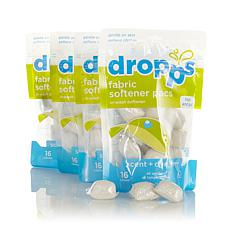 Dropps 64ct Fabric Softener Pacs - Scent & Dye Free