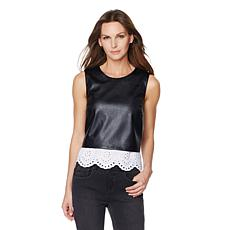 G by Giuliana Ultra Luxe Tank with Eyelet Trim