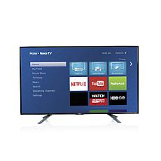 "Haier 32"" Smart LED HDTV w/Built-In Roku and HDMI Cable"
