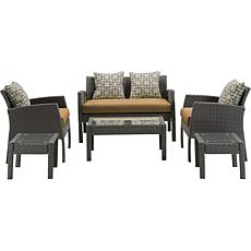 Hanover Chelsea Collection 6pc Patio Set - Country Cork