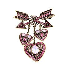 "Heidi Daus ""Lots of Love"" Crystal Heart Drop Pin"