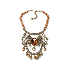 "Heidi Daus ""Queen of the Jungle"" Beaded Drop Necklace"