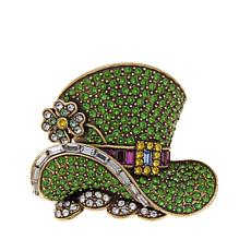 "Heidi Daus ""Top O' the Morning"" Crystal Pin"