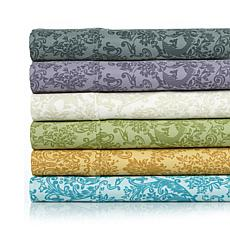 Highgate Manor Cotton Rich Floral Damask 4pc Sheets - F