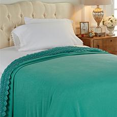 Highgate Manor Kensington Lace Trim Cotton Blanket