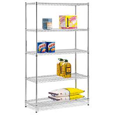 "Honey-Can-Do 5-Tier 42"" Urban Adjustable Shelving Unit"
