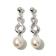 Imperial Pearls Cultured Pearl Infinity-Symbol Earrings