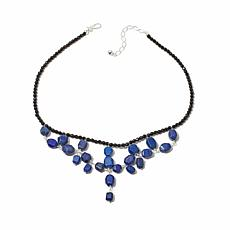Jay King Black Agate and Azurite Necklace