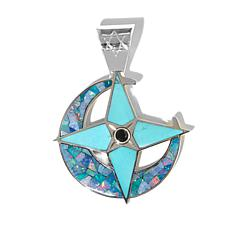 Jay King Micro Opal and Turquoise Inlay Pendant