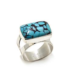 Jay King Spider Web Turquoise Sterling Silver Ring