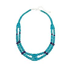 "Jay King Turquoise and Lapis Bead 18"" Necklace"