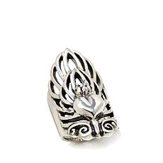 King Baby Jewelry Heart and Feathers Knuckle Ring