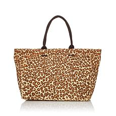 Lulu Dharma Animal Print Canvas Tote