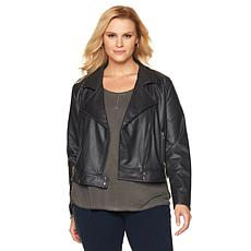 LYSSE Belfast Washable Moto Jacket - Plus