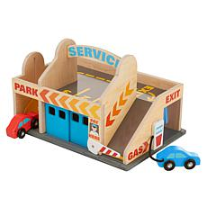 Melissa & Doug Service Station Parking Garage Set