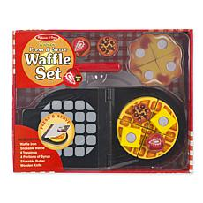 Melissa & Doug Wooden Press & Serve Waffle Set