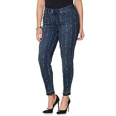 Melissa McCarthy Seven7 Printed Stretch Ankle Jean
