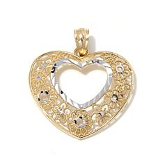 Michael Anthony® 10K Gold Flower-Framed Heart Pendant