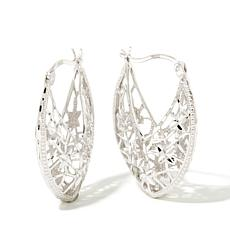 Michael Anthony Jewelry® Marquise-Shaped Hoop Earrings