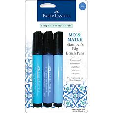 Mix and Match Stamper's Big Brush Pens - 3pk Blue