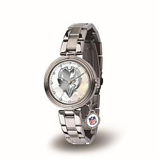 NFL Crystal Charm Watch - Baltimore Ravens