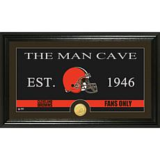 "NFL ""Man Cave"" Bronze Coin Panoramic Photo Mint-Browns"
