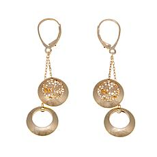Passport to Gold 14K Gold Cutout Disc Drop Earrings